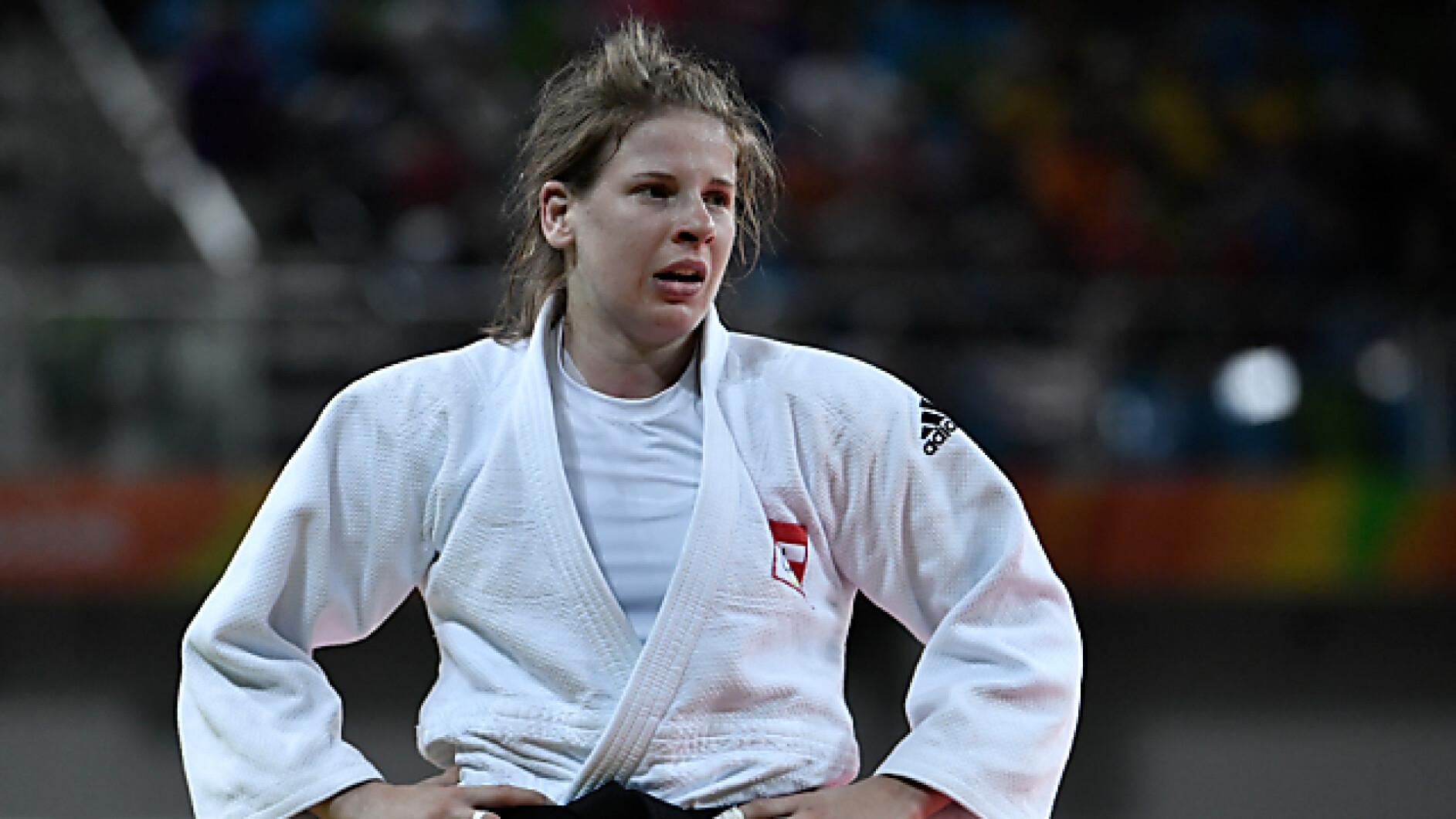 Judo-Judoka-Bernadette-Graf-holt-in-Lissabon-EM-Bronze