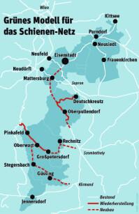 Grünes Modell für das Schienen-Netz im Burgenland Grafik