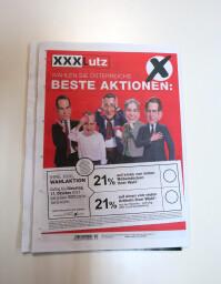 Karikaturist XXXLutz Geronimo für Werbung XXXLutz-Werbung Lutz-Werbung Karikaturen Gerald Koller