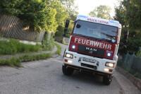 Die Freiwillige Feuerwehr Bruck war mit insgesamt vier Fahrzeugen und einer Zille im Einsatz.