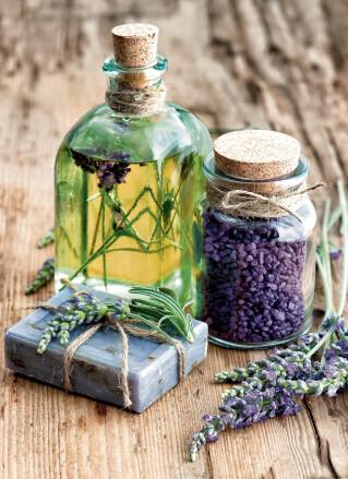 Lavendel Öl Seife Natürlich Symbolbild