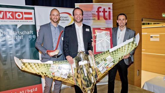 Firma Skyability aus Siegendorf Drohne Innovationspreis 2016  Siegesflug des Falken