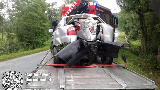 2 Unfälle in 12 Tagen Stoob/Unterfrauenhaid Pkw krachten in Bäume: Gleich zwei Unfälle auf Güterweg