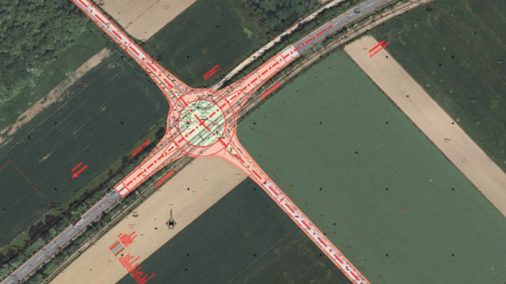 Kreisverkehr B63a