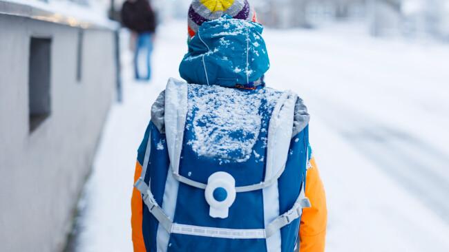Schule Winter
