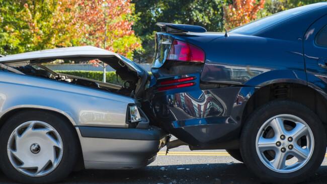 Auffahrunfall Unfall Crash Symbolbild