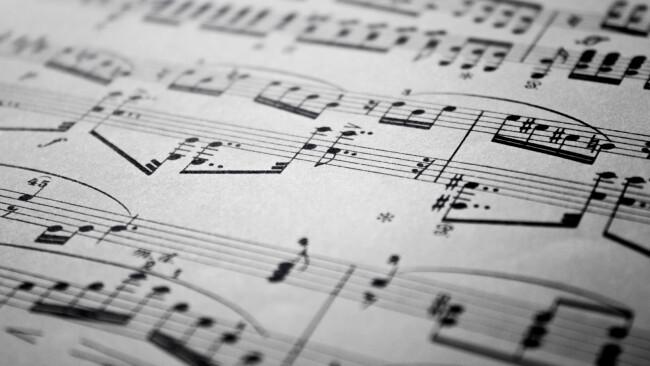 Noten Musik Klassik Symbolbild