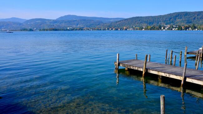 Wörthersee See Steg Baden Badesee Sommer Sommerurlaub Urlaub Symbolbild