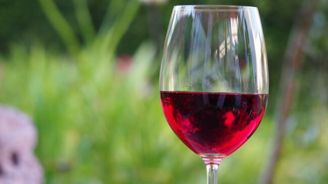 Wein Rotwein Weinglas Symbolbild