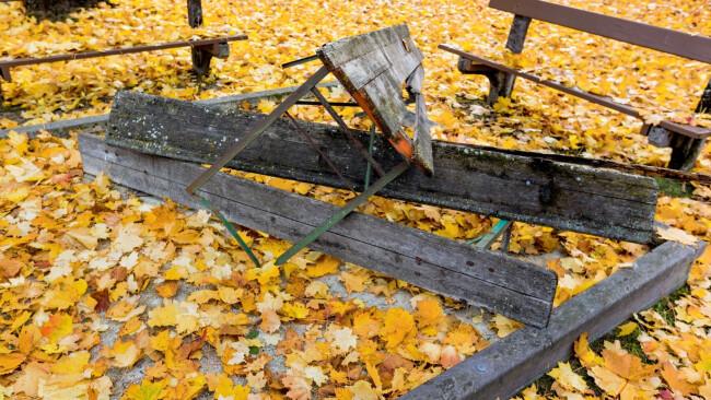 Vandalismus Vandalen Symbolbild Herbst
