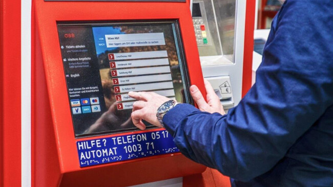 Ticketautomat Symbolbild ÖBB