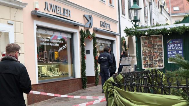 Eisenstadt: Bewaffneter Raubüberfall auf Juwelier Kröpfl