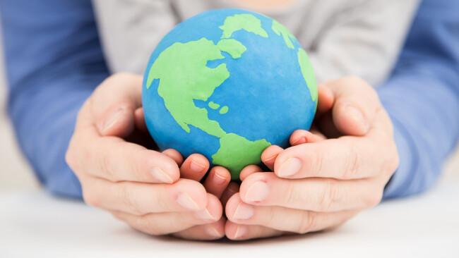 Erde Klimaschutz Klimawandel Welt Symbolbild