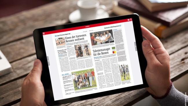 BVZ ePaper Tablet Mockup