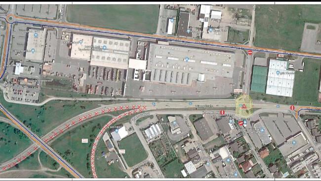 Baustelle Sperre in Neusiedl