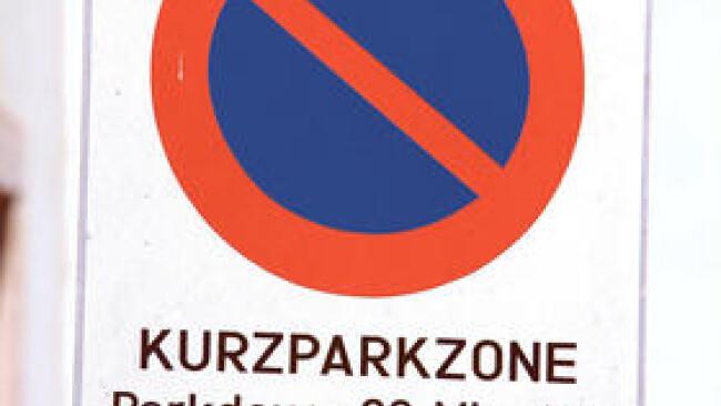 Kurzparkzone Schild Verkerh
