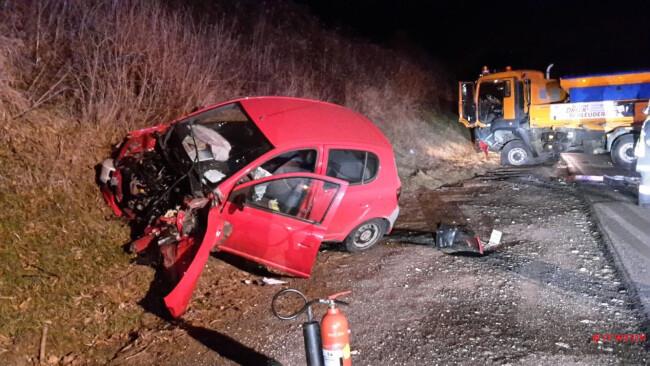 Schwerer Verkehrsunfall in  Wiesen