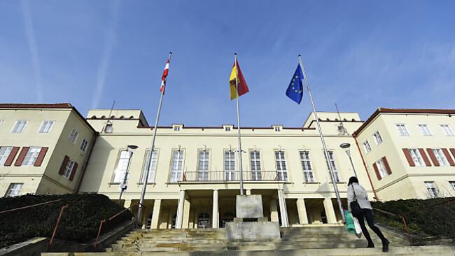 Landtag Burgenland Symbolbild Blick auf das burgenländische Landhaus in Eisenstadt