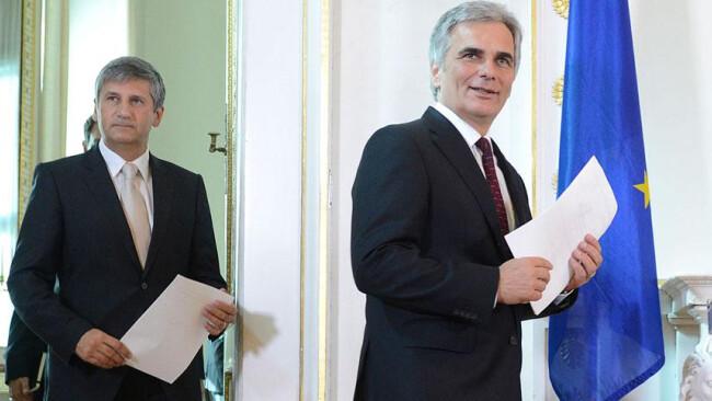 Regierung Ministerrat Spindelegger Faymann
