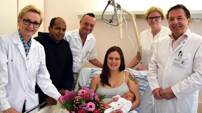 Fiona ist die 1000. Geburt im Krankenhaus Eisenstadt