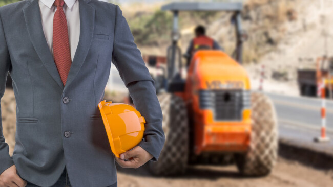 Straßenbau Bau Bauarbeiten Bauarbeiter Symbolbild