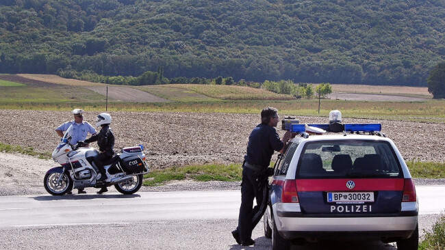 Kopie von Polizei Motorrad Symbolbild Polizei-Motorrad Polizeiauto Wien Österreich