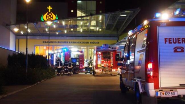 Feuerwehren mussten zu Löscheinsatz in Krankhaus Eisenstadt