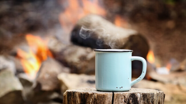 Camping Kaffee Symbolbild