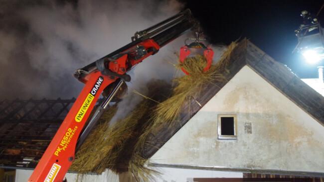 Wirtschaftsgebäude fing Feuer