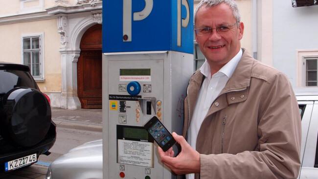 Bürgermeister Thomas Steiner Handyparken Eisenstadt