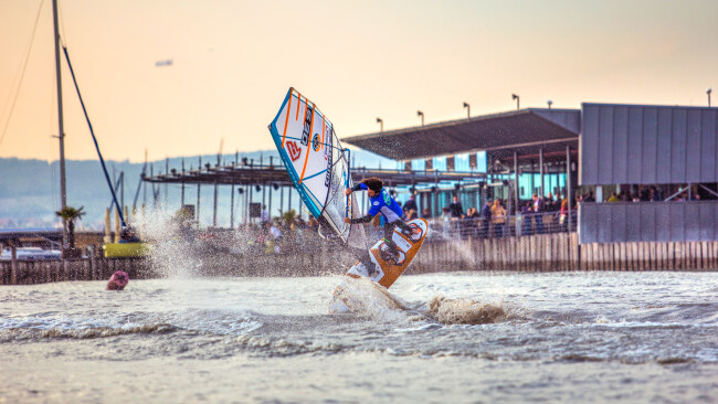 Weniger Party am Surf Worldcup Neusiedl