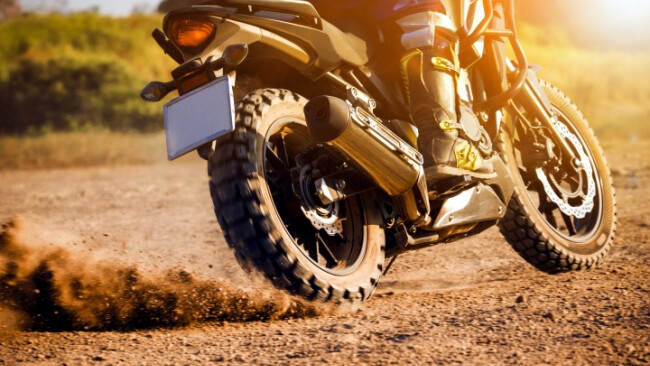 Motorrad Enduro Motorcross Symbolbild