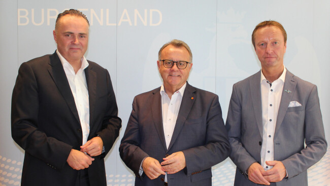 Regierungsklausur: Landesrat Hans Peter Doskozil, Landeshauptmann Hans Niessl, Landesvize Hans Tschürtz (v.l.).