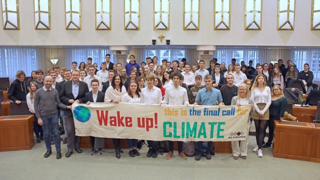 Gruppenfoto Jugendklimakonferenz