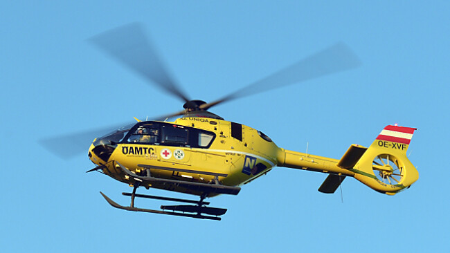 Ein Hubschrauber brachte den Verletzten ins Krankenhaus