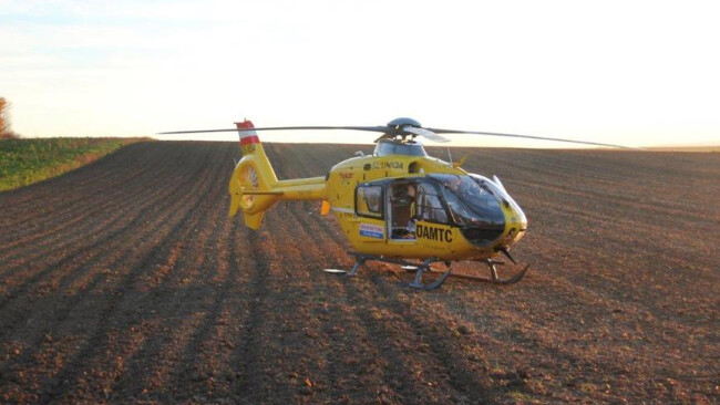 Rettung Unfall Hubschrauber Christophorus ÖAMTC