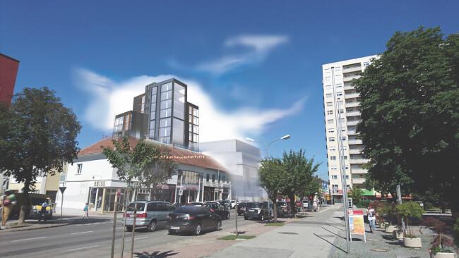 Oberwart Innenstadt City Symbolbild Skyline OSG will EKO neu beleben Neue Pläne für das EKO