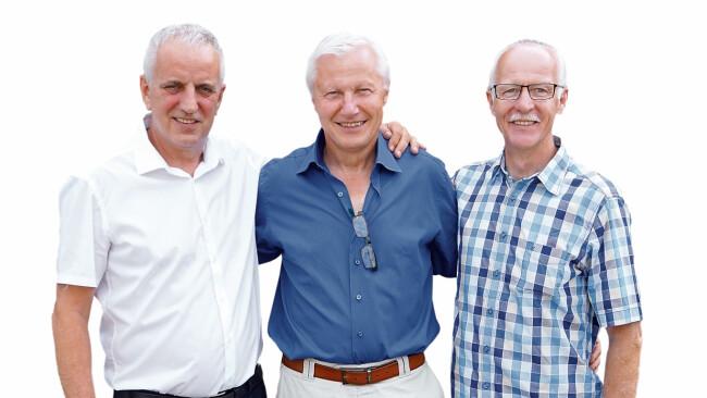 Erich Zweiler, Ernst Horvath und Johann Horvath
