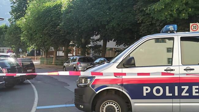 Polizei am Tatort in Zell am See