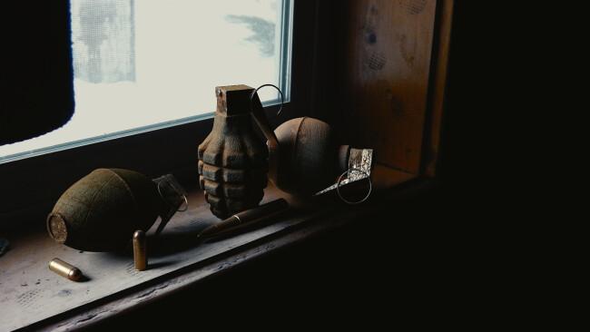 hand grenade hand granate Symbolbild