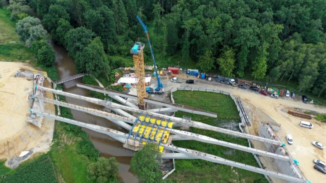 Brückenbau bei Rudersdorf S7