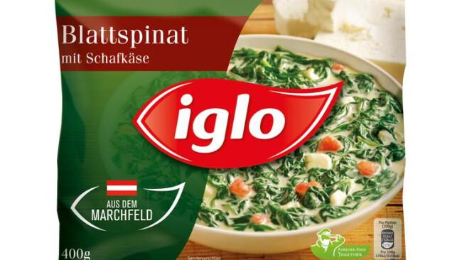 …ffentlicher RŸckruf des Produkts ãIglo Blattspinat mit SchafkŠse 400gÒ aufgrund mšglicherweise enthaltener Sojabohnen