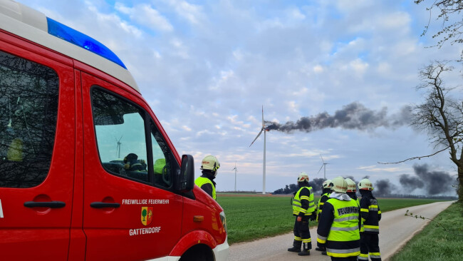 Windradbrand in Neudorf