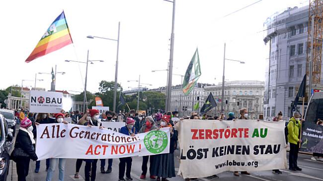 Demozug führte durch Wiener Innenstadt