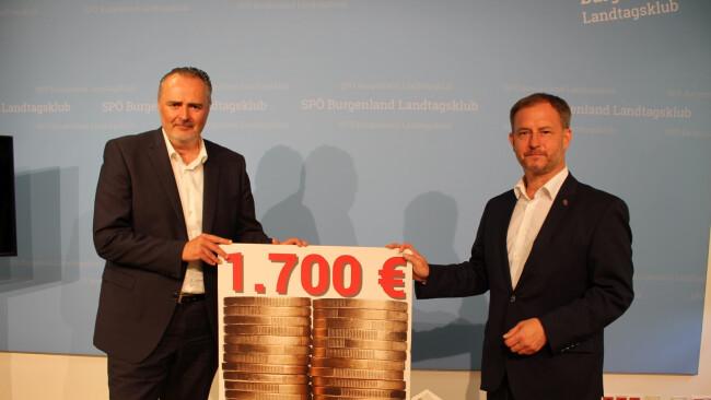 Landeshauptmann Hans Peter Doskozil und SPÖ-Landesgeschäftsführer Roland Fürst (v.l.).