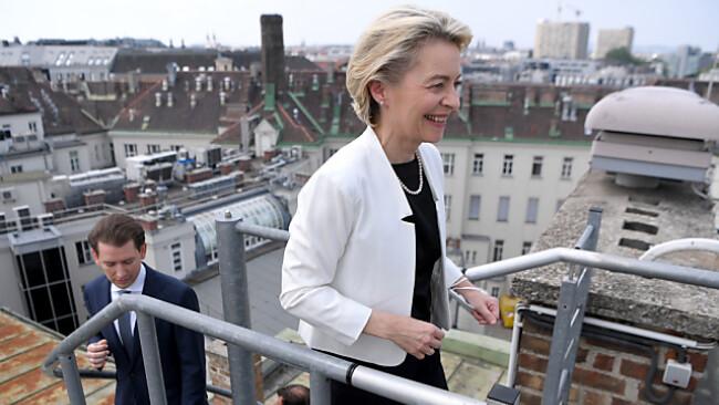 Kommissions-Präsidentin Ursula von der Leyen zu Gast in Wien