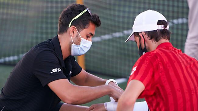 Dominic Thiem auf Mallorca nach Auftreten der Verletzung