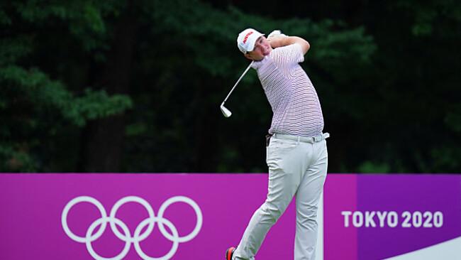 Österreicher Sepp Straka beim Olympia-Golfturnier in Tokio
