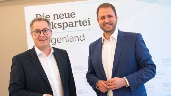 Klubobmann Markus Ulram undLandesparteiobmann Christian Sagartz