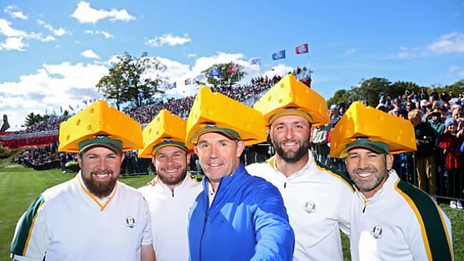 Team Europa vor dem Ryder Cup im Look der Green Bay Packers
